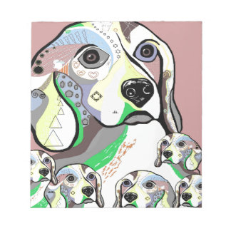 Beagle and Babies Soft Color Palette Notepad