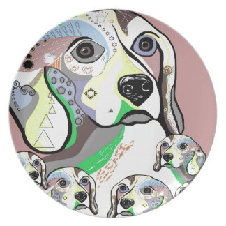 Beagle and Babies Soft Color Palette Plate