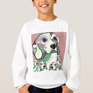 Beagle and Babies Soft Color Palette Sweatshirt