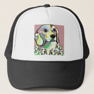 Beagle and Babies Soft Color Palette Trucker Hat