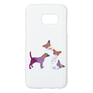 Beagle And Butterflies Samsung Galaxy S7 Case