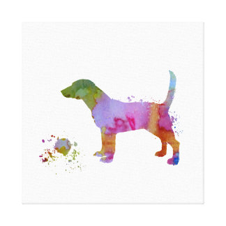 Beagle and toy canvas print