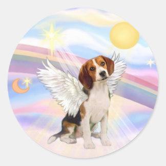 Beagle Angel Classic Round Sticker
