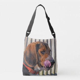 Beagle Anticipating A Goodie Crossbody Bag
