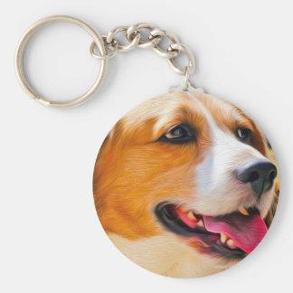 Beagle art keychain