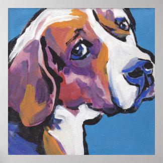 Beagle Bright Pop Art Poster Print