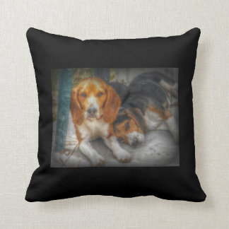 Beagle Brothers Throw Pillow