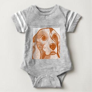 Beagle Brown Tones Baby Bodysuit
