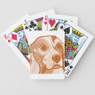 Beagle Brown Tones Bicycle Playing Cards