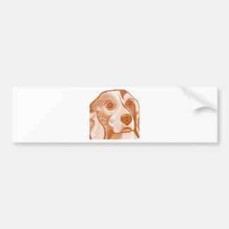 Beagle Brown Tones Bumper Sticker
