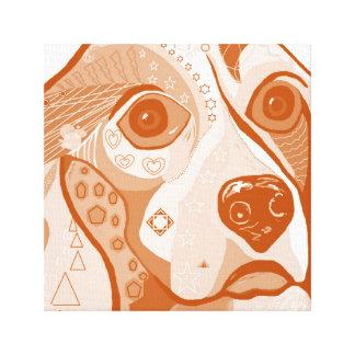 BEAGLE Brown Tones Canvas Print