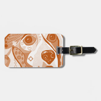 Beagle Brown Tones Luggage Tag
