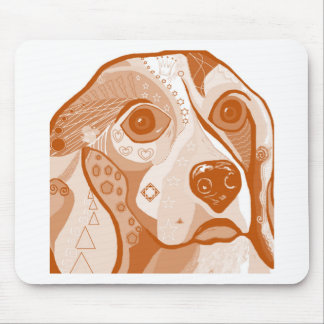 Beagle Brown Tones Mouse Pad