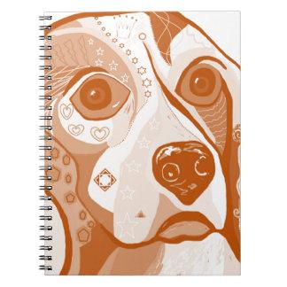 Beagle Brown Tones Notebook