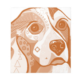 Beagle Brown Tones Notepad