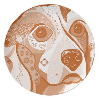Beagle Brown Tones Plate