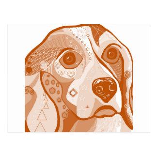 Beagle Brown Tones Postcard