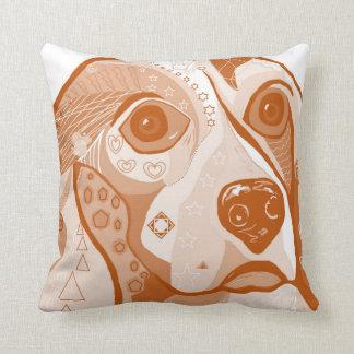 BEAGLE Brown Tones Throw Pillow