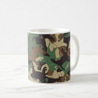 Beagle camouflage coffee mug