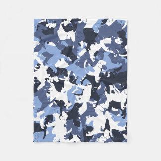 Beagle camouflage fleece blanket