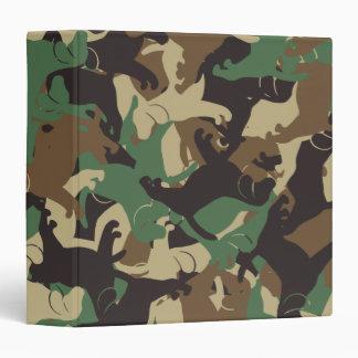 Beagle camouflage vinyl binders
