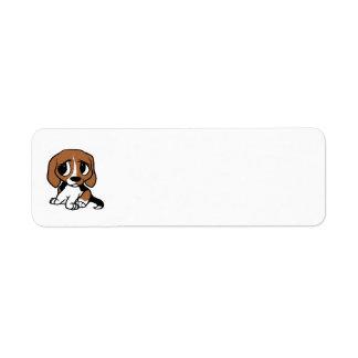 beagle cartoon black red white