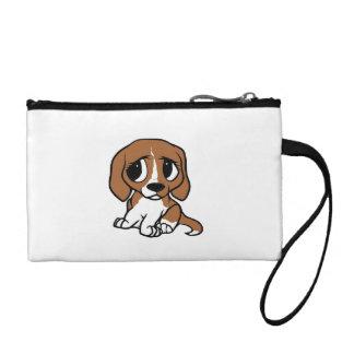 beagle cartoon red white coin purse
