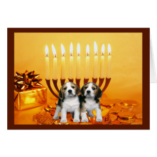 Beagle Chanukah Card Menorah2