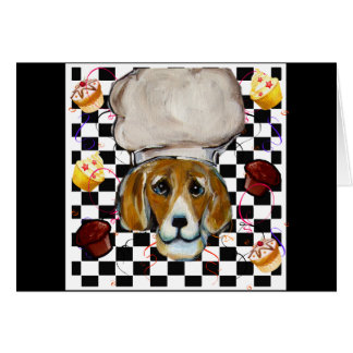 Beagle Chef Card