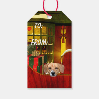 Beagle Christmas Pack Of Gift Tags