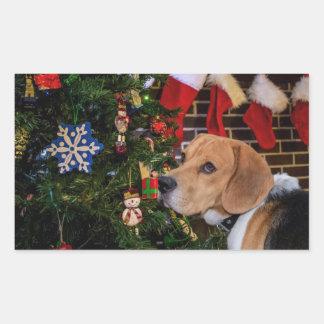 Beagle Christmas Sticker