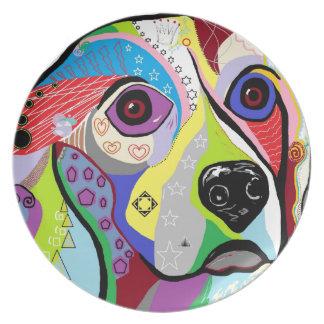 Beagle Close-up Plate