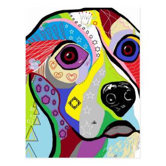 Beagle Close-up Postcard