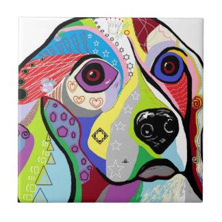 Beagle Close-up Tile