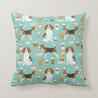 Beagle Coffee pillow print
