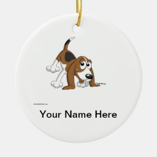 Beagle, Coonhound, Basset Hound Ceramic Ornament