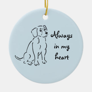 Beagle Custom Pet Loss Keepsake for Dog Lover Ceramic Ornament