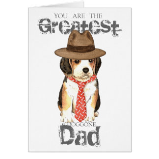 Beagle Dad Card