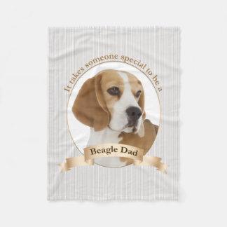 Beagle Dad Fleece Blanket