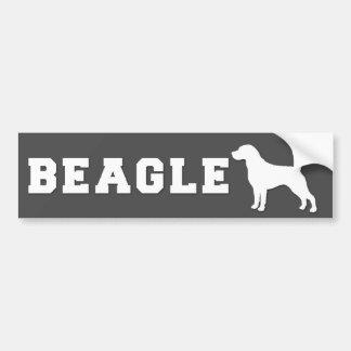 Beagle d'adhésif pour pare-chocs - gris autocollant de voiture