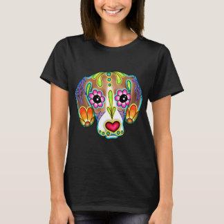 Beagle - Day of the Dead Sugar Skull Dog T-Shirt