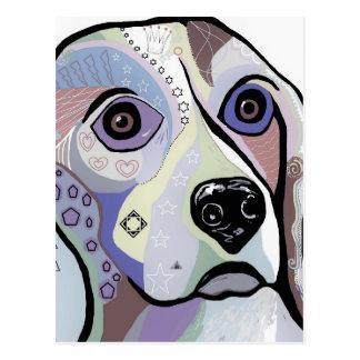 Beagle DENIM Colors Postcard