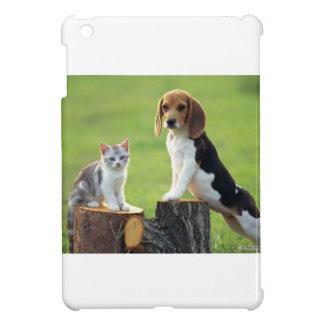 Beagle Dog And Grey Tabby Kitten iPad Mini Cover