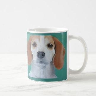 Beagle dog art painted portrait mug. coffee mug