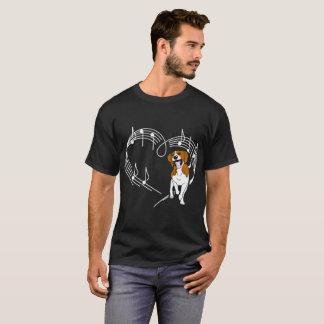 Beagle Dog Love Rhythm Heartbeats Tshirt