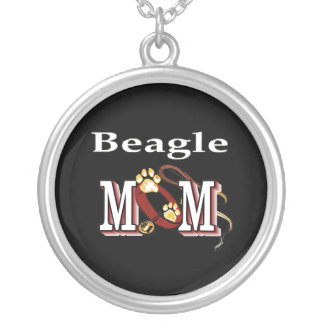 Beagle Dog Mom Silver Plated Necklace