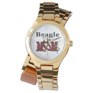 Beagle Dog Mom Wrist Watch