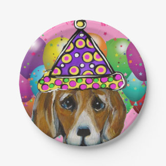 BEAGLE DOG PAPER PLATE