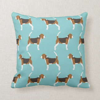Beagle dog pillow - cute beagle pattern