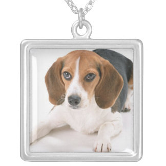 Beagle Dog Sterling Silver Necklace